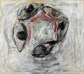 Susan Rothenberg (American, b. 1945) 5 Eyes (Study), 1997