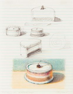 Wayne Thiebaud (American, b. 1920) Cake Studies, 1997