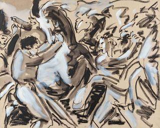 Luciano Castelli (Swiss, b. 1951) Horses II, 1991