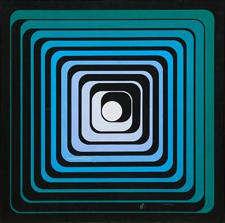 Jean Pierre Yvaral (Vasarely) (French, 1934-2002) Progression Polychrome, 1970
