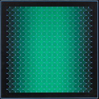 Julian Stanczak (American, 1928-2017) Harmony Green, 1991