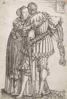 Heinrich Aldegrever (German, 1502-ca. 1561) Wedding Dancers (one plate), 1538