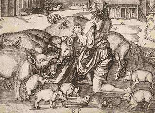 Monogrammist B.P. (After Albrecht Durer) The Prodigal Son