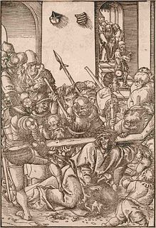 Lucas Cranach the Elder (German, 1472-1553) Christ Bearing the Cross (from The Passion)