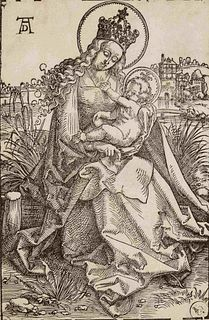 After Albrecht Durer (sometimes attributed to Hans Baldung) (German, 1471-1528) Virgin and Child