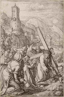 Hendrik Goltzius (Dutch, 1558-1617) Christ Bearing the Cross (from The Passion), ca. 1598