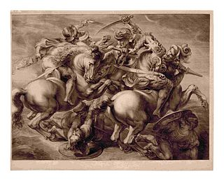 Gerard Edelinck (French, 1640-1707) The Battle of Anghiari (After Peter Paul Rubens, 1577-1640, after Leonardo da Vinci, 1452-1519)