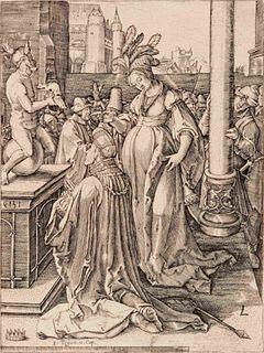 After Lucas van Leyden (Dutch, 1494-1533) Solomon Prays in front of a Graven Image, 1519