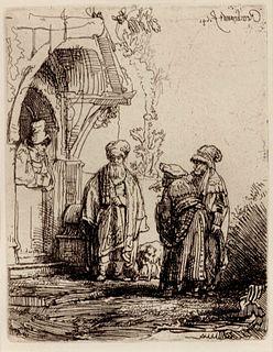 Rembrandt Harmenszoon van Rijn (Dutch, 1606-1669) Three Oriental Figures, 1641