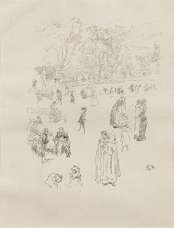 James Abbott McNeill Whistler (American,  1834-1903) Les Bonnes du Luxembourg, 1894
