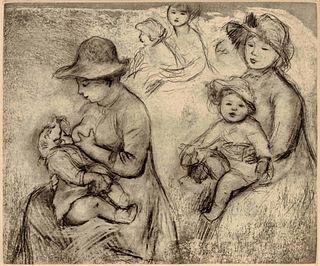 Pierre-Auguste Renoir (French, 1841-1919) Trois esquisses de maternity (Three Studies of Motherhood), 1893
