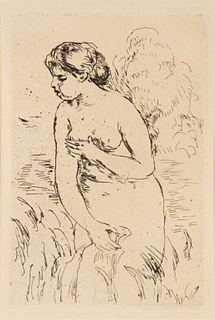 Pierre-Auguste Renoir (French, 1841-1919) Baigneuse Debout a Mi-Jambes, 1910