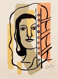 Fernand Leger (French, 1881-1955) Taªte de femme, 1949
