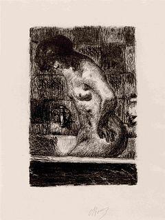 Pierre Bonnard (French, 1867-1947) Femme debout dans sa baignoire, 1925