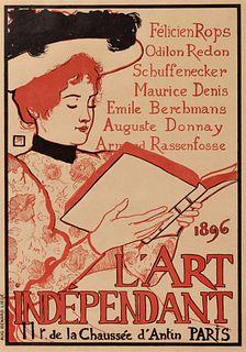 Armand Rassenfosse (Belgian, 1862-1934) L'Art Independant, 1896