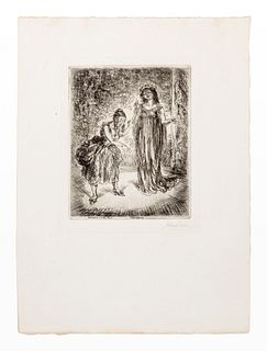 John French Sloan (American, 1871-1951) A group of four prints (Patience; Dolly; Serenade; Woman with Etching Tray)