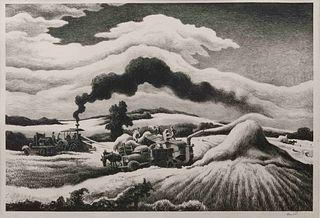Thomas Hart Benton (American, 1889-1975) Threshing, 1941