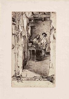 James Abbott McNeill Whistler (American, 1834-1903) The Rag Gatherers, 1858