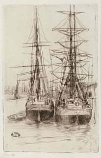 James Abbott McNeill Whistler (American, 1834-1903) The Two Ships, 1875