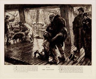 James Jacques Joseph Tissot (French, 1836-1902) L'Enfant Prodigue (The Prodigal Son - complete set of 5), 1882