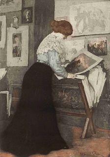 Manuel Robbe (French, 1872-1936) Dans l'atelier, c. 1907