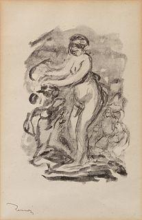 Pierre-Auguste Renoir (French, 1841-1919) Femme au cep de vigne, Variation 1, ca 1904