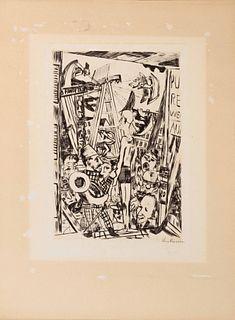 Max Beckmann (German, 1884-1950) Der Grosse Mann, 1921