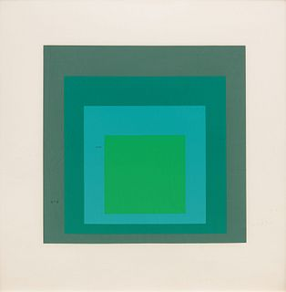 Josef Albers (American/German, 1888-1976) Homage to the Square: Ten Works by Josef Albers, 1962