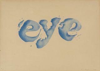Ed Ruscha (American, b. 1937) Eye, 1969