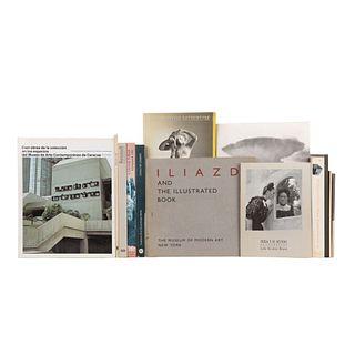 LOTE DE LIBROS SOBRE COLECCIONES DE MUSEOS. a) Frank Stella, 1970 - 1987. b) Cien Obras de la Colección en los Espacios... Piezas: 13.