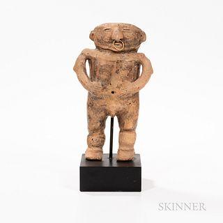 Quimbaya Hollow Pottery Figure