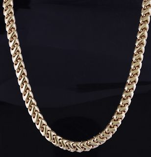 14k yellow gold linked necklace