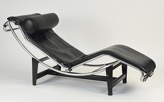 Leather Le Corbusier LC4 Chaise Lounge