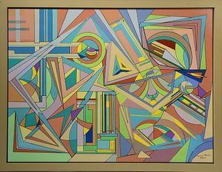 Colored abstract signed Aaron Marcus