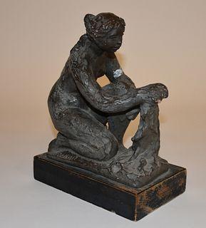 Renoir signed Terra Cotta sculpture