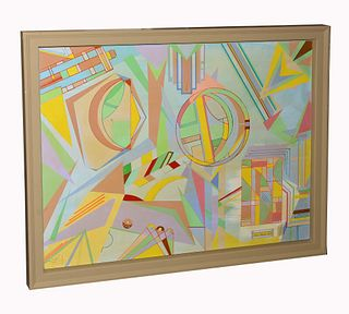 Geometric acrylic by Aaron Marcus