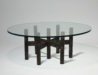 Paul Evan welded steel cocktail table