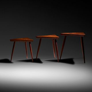 George Nakashima, Amoeba nesting tables, set of three
