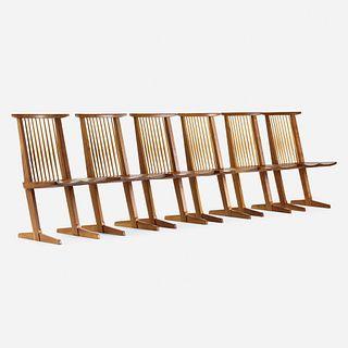 George Nakashima, Conoid chairs, set of six