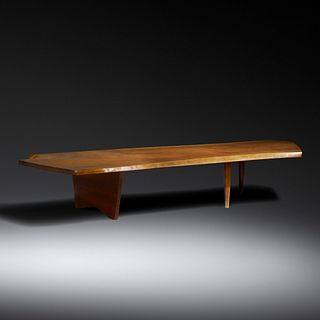 George Nakashima, Slab coffee table from the Collection of Andy Warhol