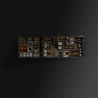 Paul Evans, Sculpture Front wall-mounted cabinet