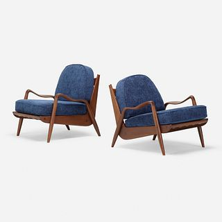 Phillip Lloyd Powell, New Hope lounge chairs, pair