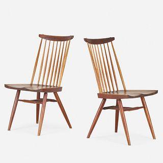 George Nakashima, New Chairs, pair