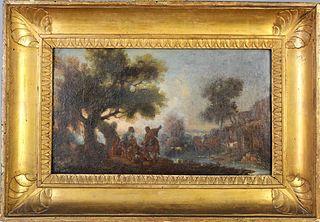 18th Century European Landscape, Oil on Canvas