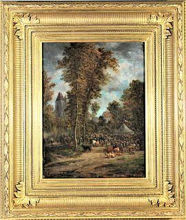 Gaspare Gabrielli (1770 - 1828) Italian O/Panel