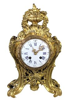 Antique Gilt Bronze French Mantle Clock