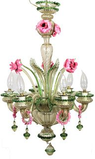 20th C Murano Glass Chandelier