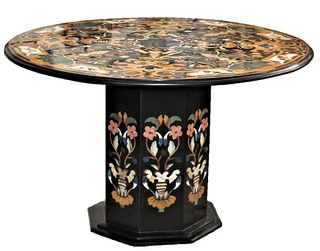 Important 'Pietra Dura' Round Marble Top Table
