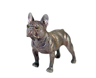 Faberge Silver Bulldog Figure with Faberge Marks