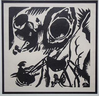 "Wassily Kandinsky ""Improvisation #25"" Woodblock"
